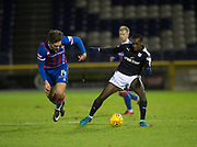 30th January 2018, Tulloch Caledonian Stadium, Inverness, Scotland; Scottish Cup 4th round replay, Inverness Caledonian Thistle versus Dundee; Dundee's Glen Kamara takes on Inverness Caledonian Thistle's George Oakley