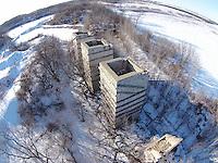 Abandon lime kiln town of Nasboro for the Fond du Lac reporter. Drone, uav. Patrick Flood Photography. February 27, 2015.
