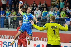 Darko Cingesar of Slovenia during handball match between National teams of Slovenia and Czech Republic on Day 7 in Main Round of Men's EHF EURO 2018, on January 24, 2018 in Arena Varazdin, Varazdin, Croatia. Photo by Mario Horvat / Sportida