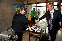 31/07/2012.The Taoiseach Enda Kenny, TD,launched a Government plan to double the value of Ireland's ocean wealth to 2.4% of GDP by 2030 and increase the turnover from our ocean economy to exceed ?6.4bn by 2020. The report, 'Harnessing Our Ocean Wealth - An Integrated Marine Plan for Ireland' was launched at the Marine Institute, Galway. Picture :Andrew Downes.