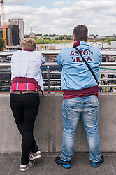 © Licensed to London News Pictures. 30/05/2015. London, UK. Aston Villa supports gathered at Wembley Stadium for the FA Cup Final 2015, between Arsenal and Aston Villa. Photo credit : Stephen Chung/LNP