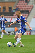 Wigan Midfielder David Perkins during the Sky Bet League 1 match between Wigan Athletic and Coventry City at the DW Stadium, Wigan, England on 9 April 2016. Photo by John Marfleet.