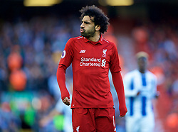 LIVERPOOL, ENGLAND - Saturday, August 25, 2018: Liverpool's Mohamed Salah during the FA Premier League match between Liverpool FC and Brighton & Hove Albion FC at Anfield. (Pic by David Rawcliffe/Propaganda)