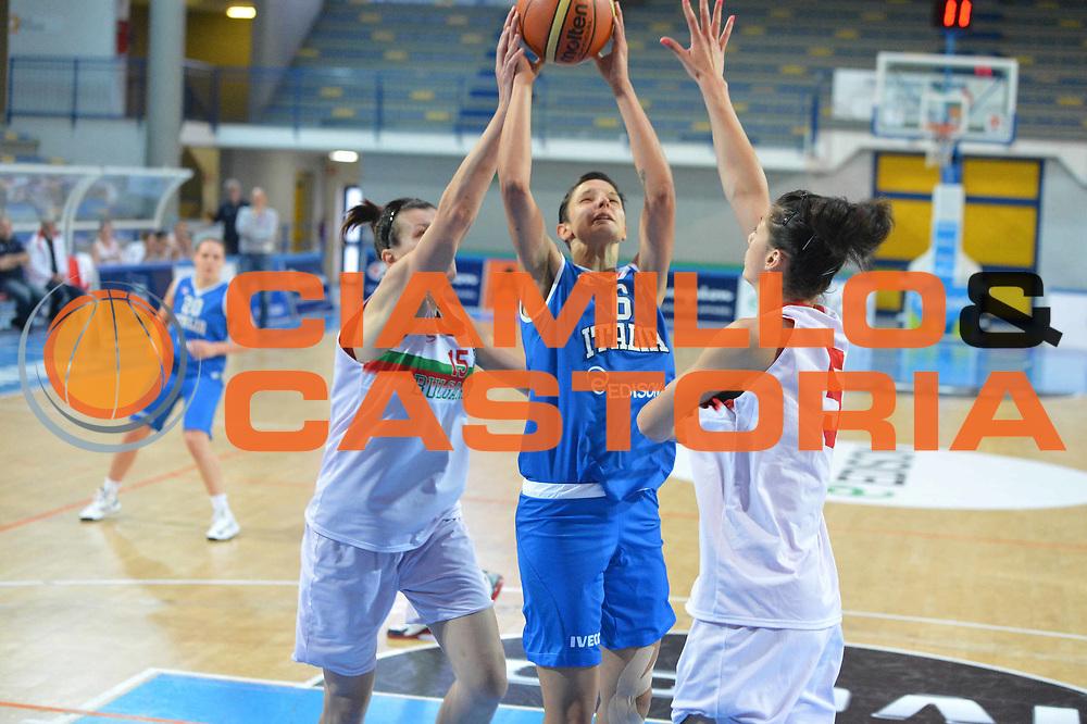 DESCRIZIONE : Frosinone amichevole 2012-2013 Italia femminile Bulgaria<br /> GIOCATORE : Cinili Sabrina<br /> CATEGORIA : tiro<br /> SQUADRA : Italia<br /> EVENTO : amichevole 2012-2013 <br /> GARA : Italia femminile Bulgaria<br /> DATA : 25/05/2013<br /> SPORT : Pallacanestro <br /> AUTORE : Agenzia Ciamillo-Castoria/ M.Simoni<br /> Galleria : Lega Basket A 2012-2013  <br /> Fotonotizia :  Frosinone amichevole 2012-2013 Italia femminile Bulgaria<br /> Predefinita :