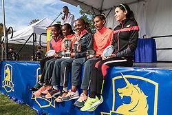 awards podium, Rotich, Limo, Wacera, Oljira, Ramos