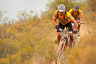 GREYTON, SOUTH AFRICA - Ian Bester and Franco van Schalkwyk during stage four of the Absa Cape Epic Mountain Bike Stage Race held in Greyton on the 25 March 2009 in the Western Cape, South Africa..Photo by Sven Martin /SPORTZPICS