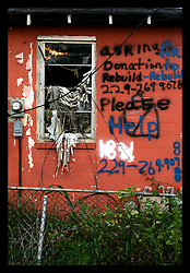 21 July 2006 - New Orleans - Louisiana. Devastation remains. The deserted, derelict, shattered lower 9rth ward remains in ruins almost eleven months after hurricane Katrina.