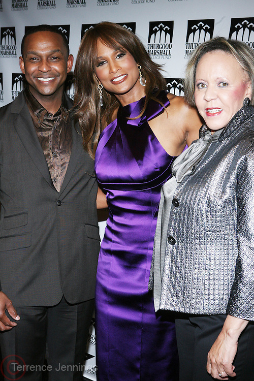 l to r: Dwayne Ashely,  Beverly Johnson and Dr. N. Joyce Payne at The Thurgood Marshall College Fund 3rd Annual Front Row Fashion Show which celebrates the spirit of innovation in Fashion held  at the Roseland Ballroom on October 25, 2008 in New York City..The Thurgood Marshall College Fund Inc. named for the late U.S. Supreme Court Associate Justice was established in 1987 and represents 47 public Historically Black Colleges and Universities(HBCUs) located in 22 states with a population of well over 235, 000 students. Thurgood Marshall College Fund is the only historically organization that empowers outstanding students attending public Historically Black Colleges and Universities(HBCUs) to become highly valued graduates by leveraging partnerships, providing resources and creating distinctive career development experience.