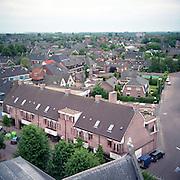 NLD/Huizen/19930929 - Overzicht vanaf de Oude kerk Huizen van de Keucheniusstraat en deel Kerkstraat Huizen