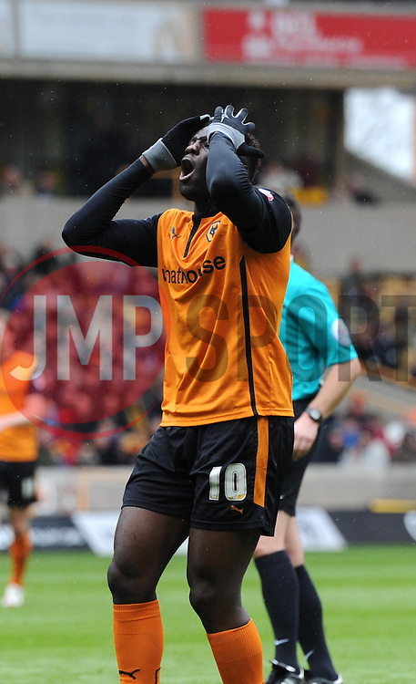 Wolves' Bakary Sako after a near miss - Photo mandatory by-line: Paul Knight/JMP - Mobile: 07966 386802 - 02/05/2015 - SPORT - Football - Wolverhampton - Molineux Stadium - Wolverhampton Wanderers v Millwall - Sky Bet Championship