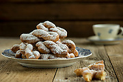 Photograph of doughnuts for the Little House Cookbook