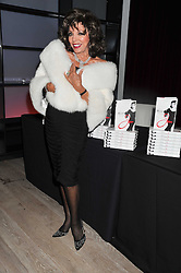 JOAN COLLINS at a party to celebrate the publication of her  autobiography - The World According to Joan, held at the British Film Institute, South Bank, London SE1 on 8th September 2011.