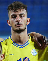 PODGORICA, MONTENEGRO - JUNE 07: Leart Paqarada of Kosovo before the 2020 UEFA European Championships group A qualifying match between Montenegro and Kosovo at Podgorica City Stadium on June 7, 2019 in Podgorica, Montenegro MB Media