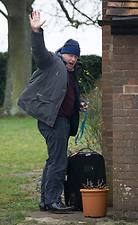 © Licensed to London News Pictures. 21/02/2016. Thame, UK. Boris Johnson is seen leaving his Oxfordshire home. The London Mayor is yet to announce if he will support an EU exit. Photo credit: Peter Macdiarmid/LNP