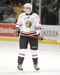 Chris Bigras of the Owen Sound Attack. Photo by Aaron Bell/OHL Images