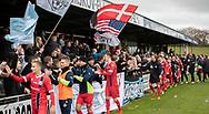 FC Helsingørs spillere takker fans efter kampen i 2. Division mellem Boldklubben Avarta og FC Helsingør den 10. november 2019 i Espelunden (Foto: Claus Birch).