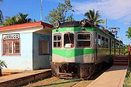Train in Jaruco, Mayabeque, Cuba.