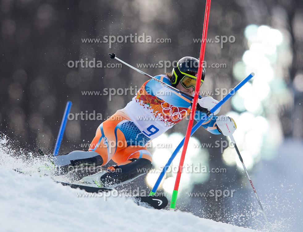 14.02.2014, Rosa Khutor Alpine Center, Krasnaya Polyana, RUS, Sochi 2014, Super- Kombination, Herren, Slalom, im Bild Kjetil Jansrud (NOR) // Kjetil Jansrud of Norway in action during the Slalom of the mens Super Combined of the Olympic Winter Games 'Sochi 2014' at the Rosa Khutor Alpine Center in Krasnaya Polyana, Russia on 2014/02/14. EXPA Pictures © 2014, PhotoCredit: EXPA/ Johann Groder