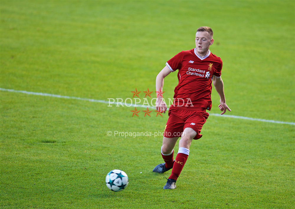 BIRKENHEAD, ENGLAND - Wednesday, November 1, 2017: Liverpool's Rhys Williams during the UEFA Youth League Group E match between Liverpool and NK Maribor at Prenton Park. (Pic by David Rawcliffe/Propaganda)