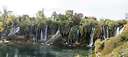 Kravica waterfall on the Trebizat River, Ljubuski, Bosnia and Herzegovina.