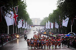 © Licensed to London News Pictures. 05/08/2012. London,UK. Athletes compete in the women's marathon during the London 2012 Olympic Games Athletics Marathon competition.  Photo credit : Bogdan Maran/LNP/BPA