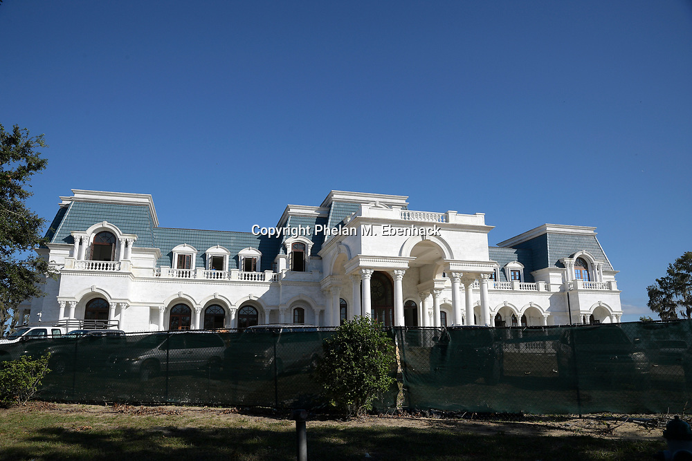 Construction continues on the Versailles, a 90,000 sq. ft. home being built by Westgate Resorts CEO David Siegel Friday, Nov. 3, 2017, in Windermere, Fla. (Photo by Phelan M. Ebenhack )