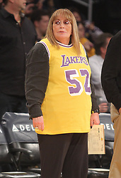 Dec. 28, 2012 - Los Angeles, CA, USA - Friday December 28, 2012; Penny Marshall just before the start of the Lakers game. The Los Angeles Lakers defeated the Portland Trail Blazers by the final score of 104-87 at Staples Center in downtown Los Angeles, CA. (Credit Image: © Paul Lane/ZUMAPRESS.com)