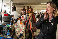 Goodwood Revival 2015 TT race. concentration from the pit lane