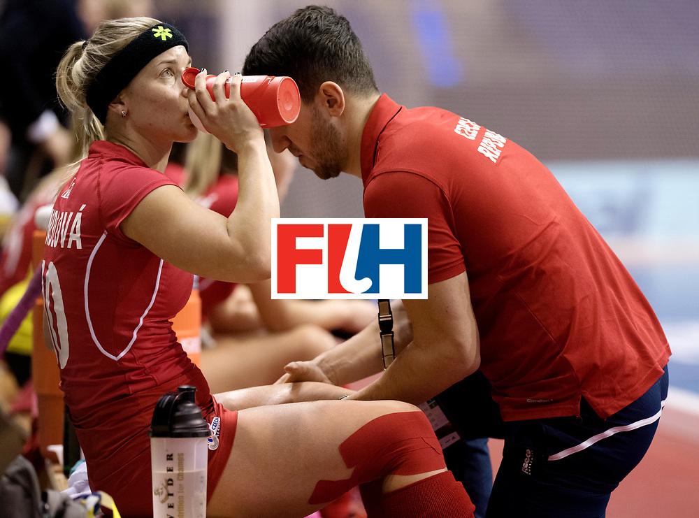 BERLIN - Indoor Hockey World Cup<br /> Women: Russia - Czech Republic<br /> foto: KYNDLOVA Klara.<br /> WORLDSPORTPICS COPYRIGHT FRANK UIJLENBROEK
