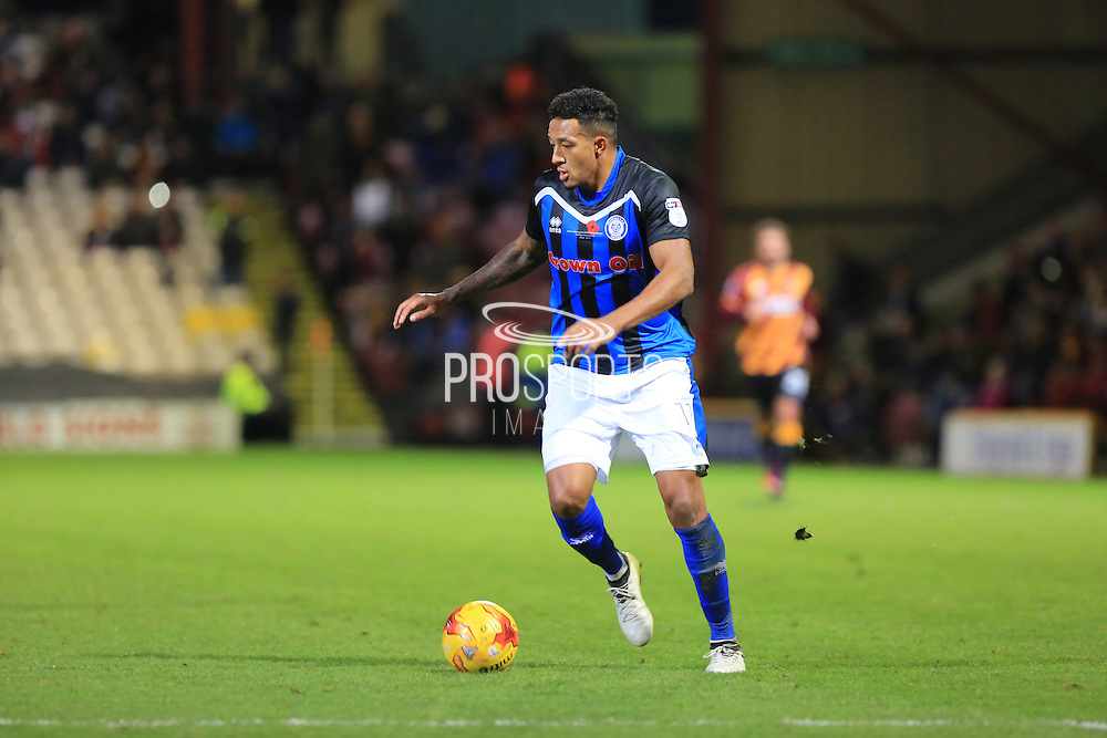 Nathaniel Mendez-Laing during the EFL Sky Bet League 1 match between Bradford City and Rochdale at the Coral Windows Stadium, Bradford, England on 12 November 2016. Photo by Daniel Youngs.