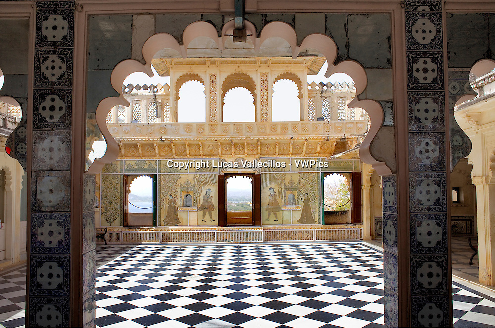 Terrace,City Palace,Udaipur, Rajasthan, india