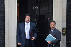 © licensed to London News Pictures. London, UK 30/08/2013. Gibraltar chief minister Fabian Picardo (left) arriving Downing Street to meet Prime Minister on Friday, 30 August 2013. Photo credit: Tolga Akmen/LNP
