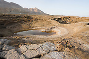 Israel, Dead Sea A sinkhole caused by the receding water level