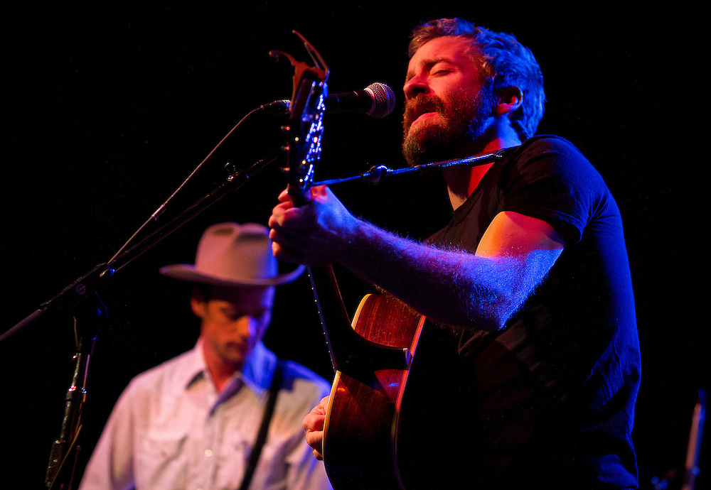 """Lead singer of Trampled By Turtles, Dave Simonett, right, performs during Minneapolis Mayor R.T. Rybak's """"Unauguration Party"""" at First Avenue, Wednesday, December 18, 2013."""