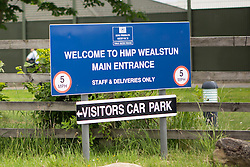 "© Licensed to London News Pictures. 25/06/2015. Wetherby.UK. Picture shows Wealstun Prison near Wetherby in Yorkshire where two inmates have been treated by doctors after suffering a reaction to a cannabis substitute known as Spice. The substance can cause a string of side effect including heart palpitations and acute psychosis. Glyn Travis, assistant secretary of the Prison Officers Association, said the spread of legal highs in prisons was a real concern. ""The system has not managed to work out how to crack down on them. It's illegal to bring substances into prison, but the flood of illicit substances is causing us real problems, There has been a number of suspected serious illnesses and deaths because of it and levels of violence are on the increase. Photo credit : Andrew McCaren/LNP"