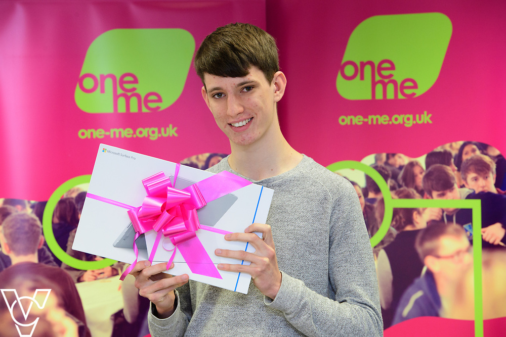 Cameron Wood has been awarded a grant from charity one me, which is being used towards IT equipment for his upcoming University course.<br /> <br /> Picture: Chris Vaughan Photography/one me<br /> Date: July 4, 2017