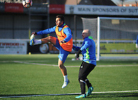 Football - 2016 / 2017 FA Cup - Sutton United training pre Third Round<br /> <br /> Matt Tubbs and Nicky Bailey at Gander Green Lane.<br /> <br /> COLORSPORT/ANDREW COWIE