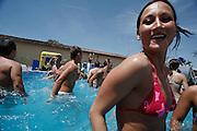 Italy, Florence, Fortezza da Basso, Fitfestival, aquaerobic lesson