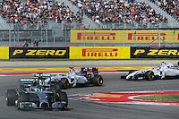 Nico Rosberg (GER) Mercedes AMG F1 W05.<br /> United States Grand Prix, Sunday 2nd November 2014. Circuit of the Americas, Austin, Texas, USA.