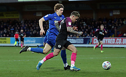 Sammie Szmodics of Peterborough United gets the better of Mads Sorensen of AFC Wimbledon - Mandatory by-line: Joe Dent/JMP - 18/01/2020 - FOOTBALL - Cherry Red Records Stadium - Kingston upon Thames, England - AFC Wimbledon v Peterborough United - Sky Bet League One