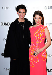 Anna Kendrick receives her Writer Award from Ruby Rose (left) in the press room at the Glamour Women of the Year Awards 2017, Berkeley Square Gardens, London.