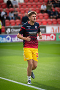 Joshua Earl of Bolton Wanderers warming up before the EFL Sky Bet League 1 match between Rotherham United and Bolton Wanderers at the AESSEAL New York Stadium, Rotherham, England on 14 September 2019.