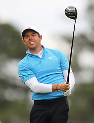April 7, 2018 - Augusta, GA, USA - Rory Mcllroy hits from the 1st tee during the third round of the Masters Tournament on Saturday, April 7, 2018, at Augusta National Golf Club in Augusta, Ga. (Credit Image: © Curtis Compton/TNS via ZUMA Wire)