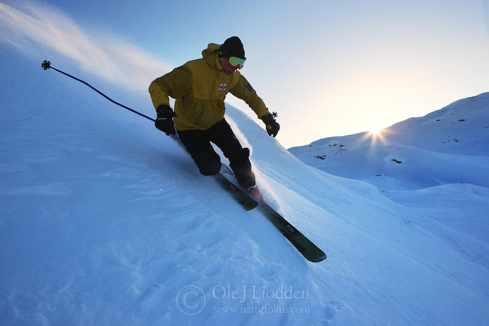 Offpist skiing in Jotunheimen, Norway