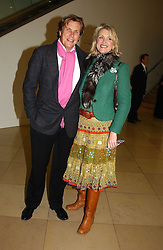 Jeweller THEO FENNELL and his wife LOUISE at a party to celebrate the publication of 'You Are Here' by Rory Bremner, Juhn Bird and John Fortune held at the National Portrait Gallery, St.Martin's Place, London on 1st November 2004.<br /><br />NON EXCLUSIVE - WORLD RIGHTS