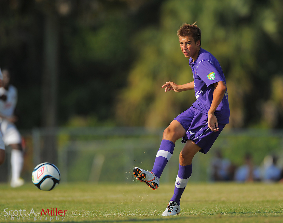 Orlando City U23s midfielder Harrison Heath (3) in action during Orlando's game against the Ocala Stampede at the Seminole Soccer Complex Saturday on May 26, 2012 in Sanford, Fla. ...©2012 Scott A. Miller..