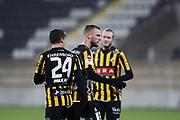 G&Ouml;TEBORG, SVERIGE - 2018-01-23: Alexander Faltsetas i BK H&auml;cken jublar efter att ha gjort 1-0 under tr&auml;ningsmatchen mellan BK H&auml;cken och Utsiktens BK p&aring; Bravida Arena den 23 januari 2018 i G&ouml;teborg, Sverige. <br /> Foto: Nils Petter Nilsson/Ombrello<br /> ***BETALBILD***