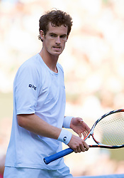 LONDON, ENGLAND - Monday, June 30, 2008: Andy Murray (GBR) during his men's singles fourth round match on day seven of the Wimbledon Lawn Tennis Championships at the All England Lawn Tennis and Croquet Club. (Photo by David Rawcliffe/Propaganda)