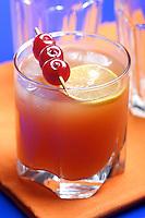 Close up of grapefruit beverage