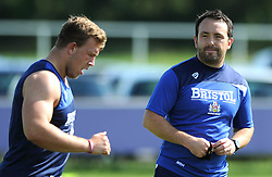 Bristol Rugby Back and Skills Coach Matthew Sherratt looks on during pre-season training - Photo mandatory by-line: Dougie Allward/JMP - Mobile: 07966 386802 - 03/07/2015 - SPORT - Rugby - Bristol - Bristol Rugby Training Ground - Bristol Rugby Pre-Season Training